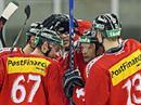 Die Schweizer Nati versucht sich im Hinblick auf die WM auf kleinere Eisfelder einzustellen.