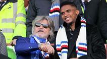 Sampdorias Präsident Massimo Ferrero mit Samuel Eto'o.