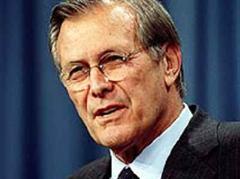 Der frühere US-Verteidigungsminister Rumsfeld.