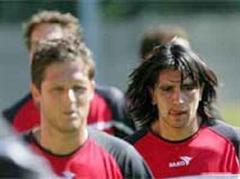 Daniel Tarone (r) und Francisco Guerrero im Training.