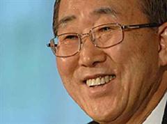Den Kampf gegen die Abholzung im Fokus: Ban Ki-Moon.