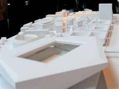 Modell des geplanten Hardturm-Stadions.