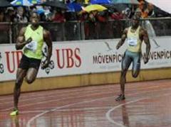 Marvin Anderson (re., hier gegen Usain Bolt in Lausanne) hat gedopt.