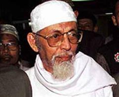 Islamistenführer abu Bakar Bashir.