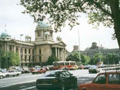 Das serbische Parlament in Belgrad.