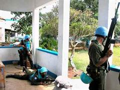 UNO-Friedenstruppen in Kongo.