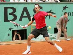 Roger Federer am French Open 2005.