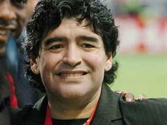 Diego Maradona war zuletzt mit dem FC Barcelona 1982 in Belgrad. Bild: Am Champions League Endspiel in Istanbul.