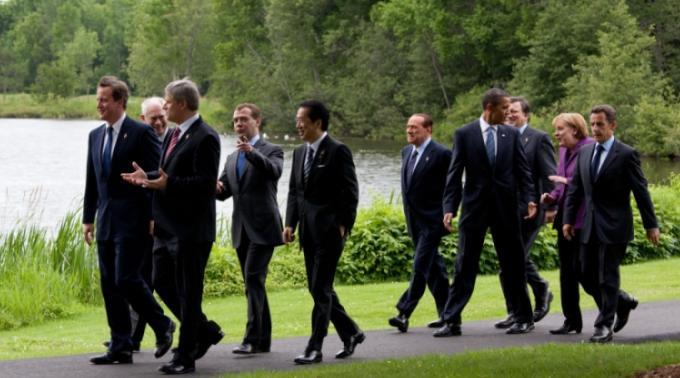 Schamlos am Gipfel: Die G8-Regierungschefs in Ontario, vor Wikileaks.