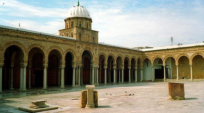 Leere Kulturstätte in Tunesien.