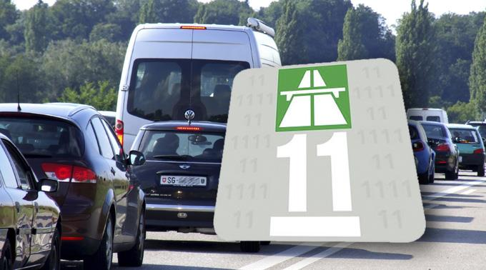 Autobahnvignette 2011.