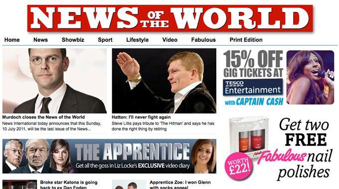 Nach 168 Jahren wird «News of the World» eingestellt.