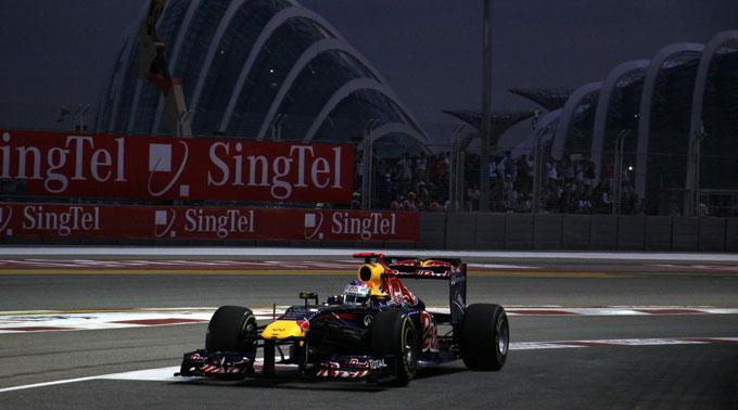 Sebastian Vettel war im zweiten Teil des Trainings der Schnellste und sorgte für die Tagesbestzeit.