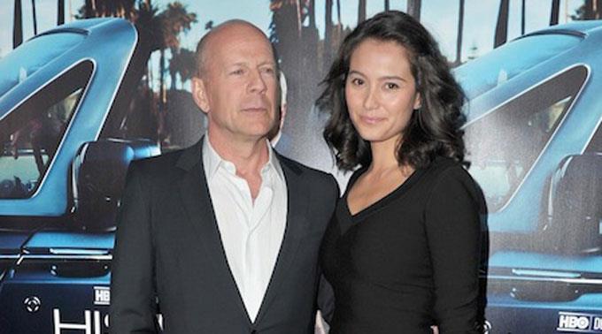 Im Familienglück: Bruce Willis und Emma Heming.