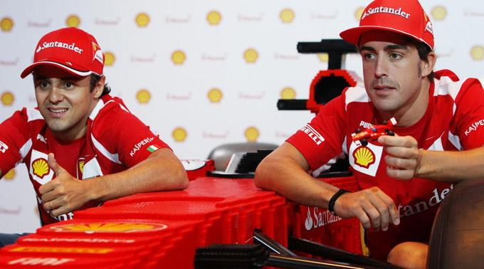 Felipe Massa und Fernando Alonso.
