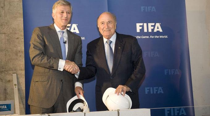 Swiss Life-Verwaltungspräsident Rolf Dörig mit FIFA-Boss Joseph S. Blatter.