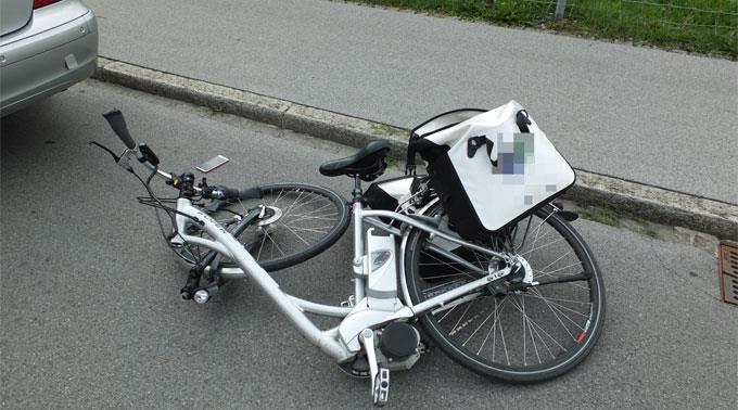 Unfall mit dem E-Bike. (Symbolbild)