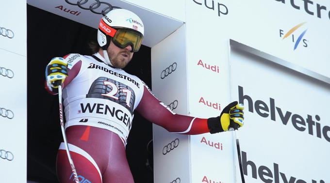 Kjetil Jansrud gewinnt am Lauberhorn die Kombination.